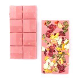 Meyveli Pembe Ruby Tablet Çikolata 110g - Thumbnail