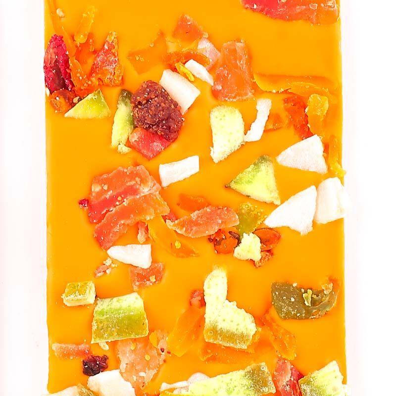 Meyveli Portakallı Tablet Çikolata 110g - Thumbnail