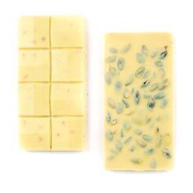 Fıstıklı Beyaz Tablet Çikolata 110g - Thumbnail