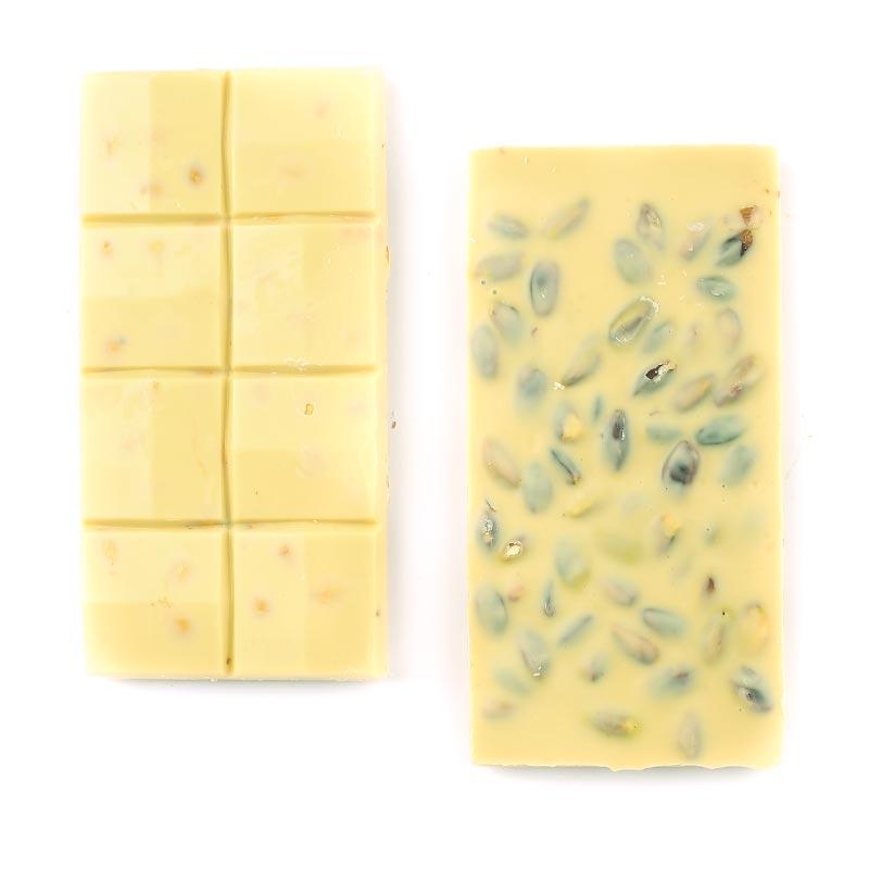 Fıstıklı Beyaz Tablet Çikolata 110g