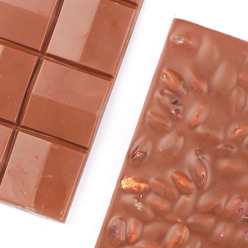Fıstıklı Sütlü Tablet Çikolata 110g - Thumbnail