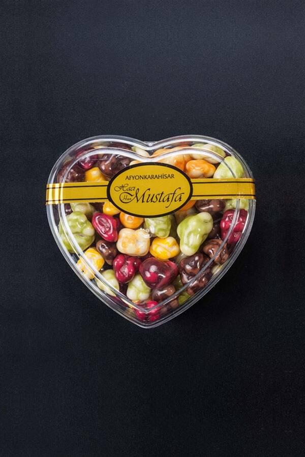 Meyve Parçalı Draje- Kalp Kutu 65g
